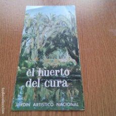 Catálogos publicitarios: EL HUERTO DEL CURA - JARDIN ARTISTICO NACIONAL - 1973 - HELCHE - ALICANTE. Lote 89439084