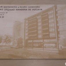 Catálogos publicitarios: GALERÍAS URQUIJO BILBAO. CATÁLOGO PUBLICITARIO DE SU CONSTRUCCIÓN. ANTIGUO. . Lote 90341200