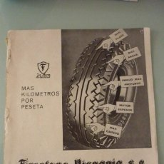 Catálogos publicitarios: FIRESTONE-HISPANIA S.A. 25 X 34 CM. ORIGINAL, AÑOS 30. Lote 91621100