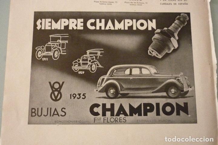 BUJIAS CHAMPION 25 X 17 CM. ORIGINAL, AÑOS 30 (Coleccionismo - Catálogos Publicitarios)