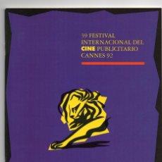 Werbekataloge - CATÁLOGO 39 FESTIVAL INTERNACIONAL DE CINE PUBLICITARIO CANNES 92 - 91770615
