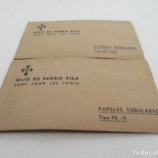 Catálogos publicitarios: CATÁLOGOS PUBLICITARIOS - CATÁLOGO PAPELES TUBULARES - HIJO DE PEDRO VILA - SANT JOAN LES FONTS. Lote 92019405