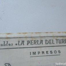Catálogos publicitarios: ANTIGUO TRÍPTICO DE: OBSEQUIO DE LA CASA DE MUEBLES LA PERLA DEL TURIA-SEP-1947. Lote 92213780