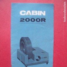 Catálogos publicitarios: CABIN.-PROYECTOR.-DIAPOSITIVAS.-SUNLIT INDUSTRIAL.. Lote 92738490