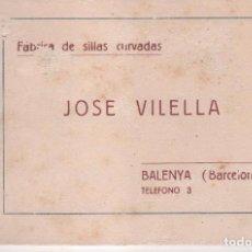 Catálogos publicitários: CATÁLOGO FÁBRICA SILLAS CURVADAS JOSÉ VILELLA. TAMAÑO 16 X 11 CMS. 18 PÁGINAS. AÑO 1900 - 20. Lote 92901655