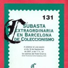 Catálogos publicitarios: CATALOGO SUBASTA EXTRAORDINARIA EN BARCELONA DE COLECCIONISMO Nº 131 - 18 DE SEPTIEMBRE 2006 LE2091. Lote 93563965