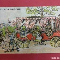 Catálogos publicitarios: AU BON MARCHE. PARIS. BONITA TARJETA. FORMATO TARJETA POSTAL. CON PUBLICIDAD. HACIA 1900. Lote 93638205
