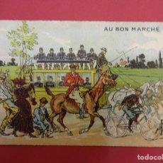 Catálogos publicitarios: AU BON MARCHE. PARIS. BONITA TARJETA. FORMATO TARJETA POSTAL. CON PUBLICIDAD. HACIA 1900. Lote 93638230