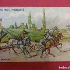 Catálogos publicitarios: AU BON MARCHE. PARIS. BONITA TARJETA. FORMATO TARJETA POSTAL. CON PUBLICIDAD. HACIA 1900. Lote 93638240