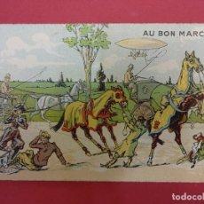 Catálogos publicitarios: AU BON MARCHE. PARIS. BONITA TARJETA. FORMATO TARJETA POSTAL. CON PUBLICIDAD. HACIA 1900. Lote 93638265