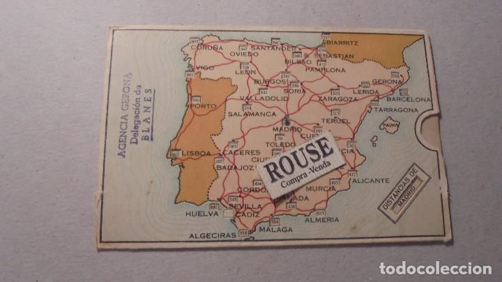 Antiguo Mapa Con Distancias De Carreteras De E Comprar Catalogos