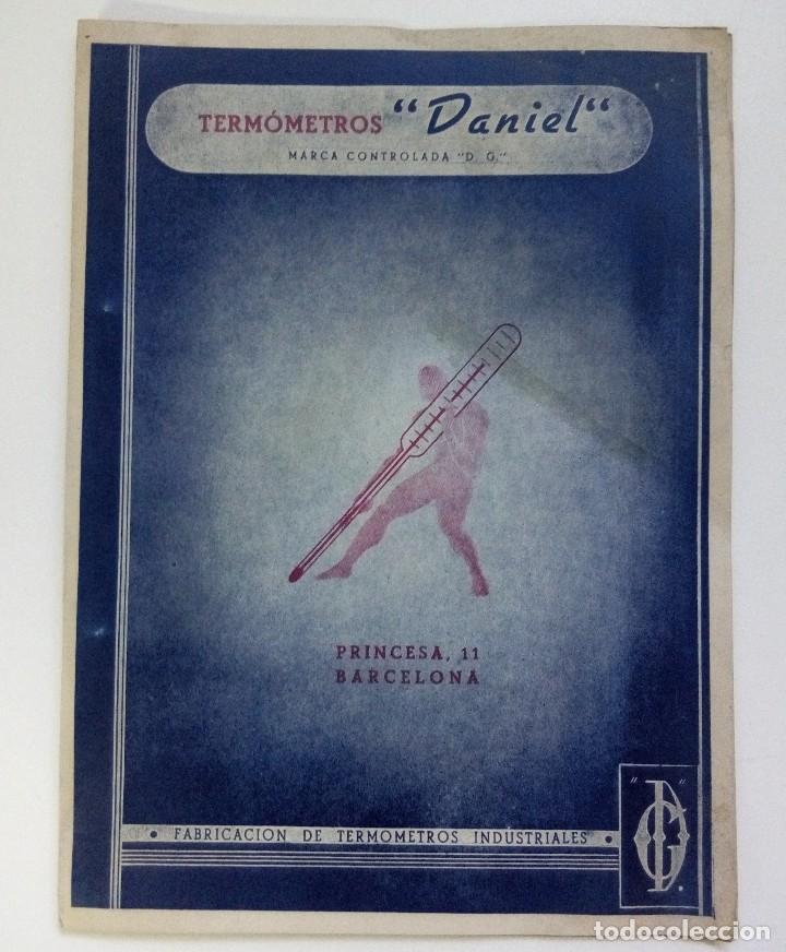 CATÁLOGO PUBLICITARIO TERMÓMETROS DANIEL BARCELONA (Coleccionismo - Catálogos Publicitarios)
