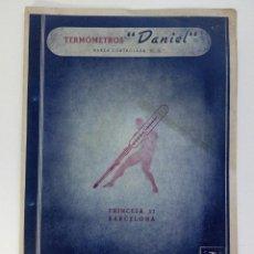 Catálogos publicitarios: CATÁLOGO PUBLICITARIO TERMÓMETROS DANIEL BARCELONA. Lote 95137999