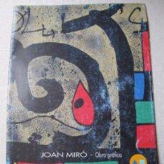 Catálogos publicitarios: CATALOGO EXPOSICION CAM , JOAN MIRO , OBRA GRAFICA. Lote 95147987