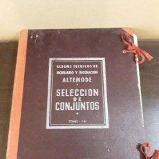 Catálogos publicitarios: ALTEMODE SELECCION DE CONJUNTOS-ALBUNES TECNICOS DE MOBILARIO Y DECORACION - BARCELONA 1952.DIFICIL.. Lote 95774411