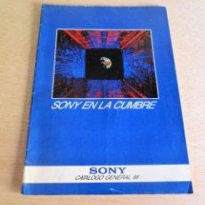 Catálogos publicitarios: CATALOGO GENERAL SONY 1986.. Lote 95864111