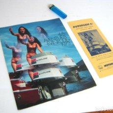 Catálogos publicitarios: MOTORES FUERABORDA - LA AVENTURA EVINRUDE AÑO 1973 - CATALOGO NAUTICO MODELOS CV LISTA DE PRECIOS. Lote 95889875