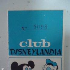 Catálogos publicitarios: CARNET DEL CLUB DISNEYLANDIA, ROBERT JUBAL. CORNELLÁ DE LLOBREGAT. AÑO 1965. Lote 96033019