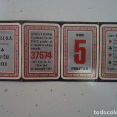 Catálogos publicitarios: DETENGENTE TU-TU - DOSLI S.A. - CARTON PUBLICITARIO CON REGALO DE LOTERIA NACIONAL 1967. Lote 96033407