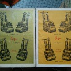 Catálogos publicitarios: 2 CATÁLOGOS CATÁLOGO PULIDORAS JOYA MODELOS A-R-20 Y A-R-30. Lote 96066372