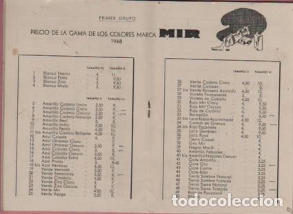 Catálogos publicitarios: CATALOGO D. PUIGDENGOLAS BODAS DE PLATA FABRICA DE PINTURAS mir garvi mil - Foto 3 - 96445203