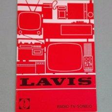 Catálogos publicitarios: PEQUEÑO CATÁLOGO RADIO TV SONIDO LAVIS AÑOS 70. Lote 96462443