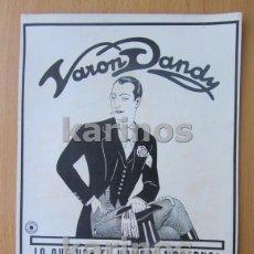 Catálogos publicitarios: 1929 PUBLICIDAD VARÓN DANDY. MOBILOIL (640). Lote 97152215