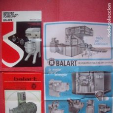 Catálogos publicitarios: BALART.-PANADERIA.-BATIDORA.-QUEMADOR.-TREN DE LABOREO.-CARTA COMERCIAL.-OLIVA.-SABADELL.-AÑO 1971.. Lote 97239395