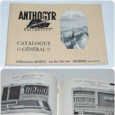 Catálogos publicitarios: ANTIGUO CATALOGO ANTHOGYR, MATERIAL DENTISTA, MEDICO, CIRUGIA, AÑO 1960, SALLANCHES, FRANCIA, TIENE . Lote 97681063