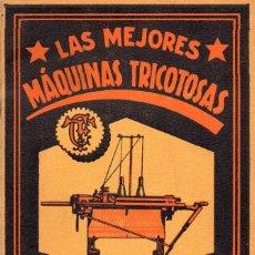 Catálogos publicitarios: MAQUINAS TRICOTOSAS CLAES FLENTJE. Lote 97829659