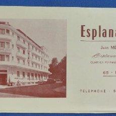 Catálogos publicitarios: PUBLICIDAD. ESPLANADE HOTEL. JEAN MELIX. LOURDES. Lote 98197451
