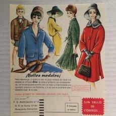 Catálogos publicitarios: FOLLETO PUBLICITARIO DCURSO EVA DE CORTE Y CONFECCION AÑO 1962. Lote 98253271