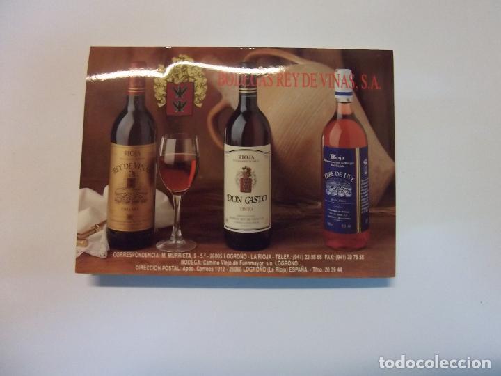 TARJETA PUBLICITARIA BODEGAS REY DE VIÑAS LOGROÑO. LA RIOJA. TDKP12 (Coleccionismo - Catálogos Publicitarios)