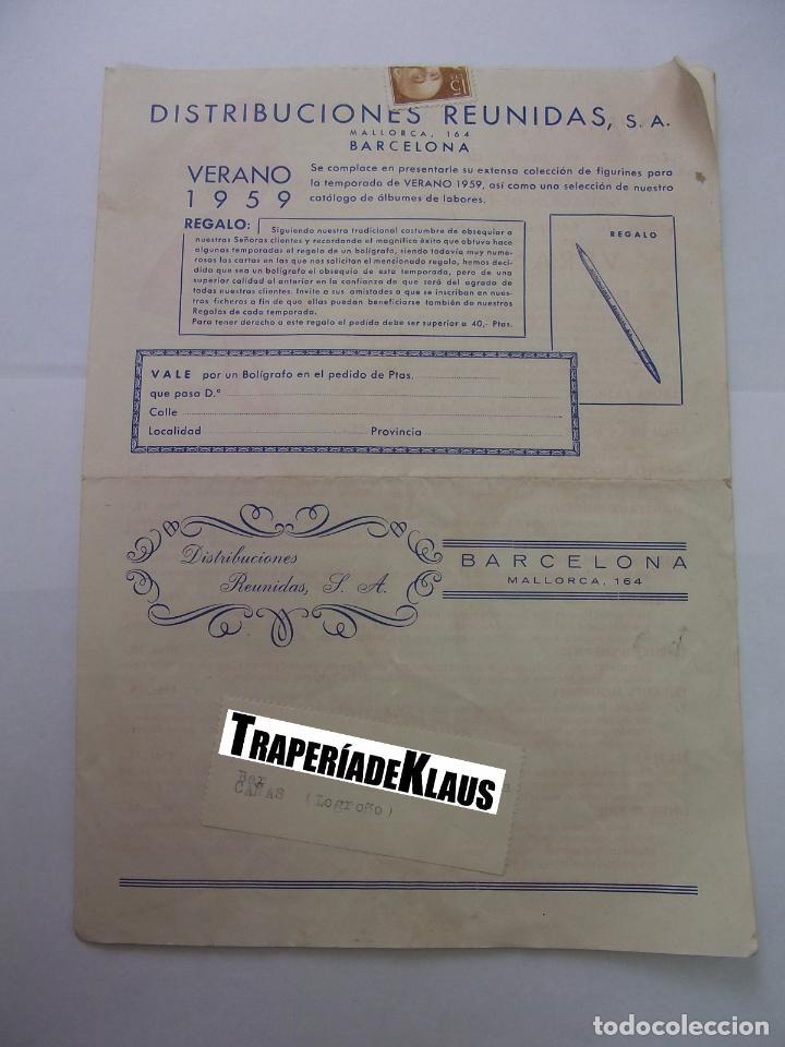 HOJA PUBLICITARIA DE DISTRIBUCIONES REUNIDAS. VERANO DE 1959. BARCELONA. TDKP12 (Coleccionismo - Catálogos Publicitarios)