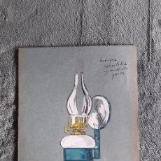 Catálogos publicitarios: QUINQUE CANASTILLA / LAMINA-CATÁLOGO D QUINQUES / DIBUJO ARTISTICO / LAMPARAS CRI-LUX / AÑOS 30'-40'. Lote 100086311