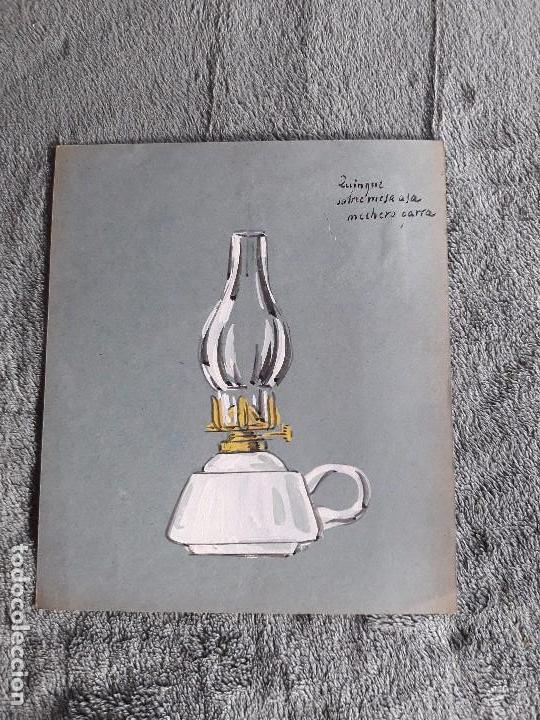 QUINQUE SOBREMESA / LAMINA-CATÁLOGO D QUINQUES / DIBUJO ARTISTICO / LAMPARAS CRI-LUX / AÑOS 30'-40' (Coleccionismo - Catálogos Publicitarios)