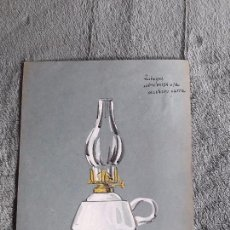 Catálogos publicitarios: QUINQUE SOBREMESA / LAMINA-CATÁLOGO D QUINQUES / DIBUJO ARTISTICO / LAMPARAS CRI-LUX / AÑOS 30'-40'. Lote 100086443