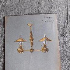 Catálogos publicitarios: QUINQUE LIRA / LAMINA-CATÁLOGO D QUINQUES / DIBUJO ARTISTICO / LAMPARAS CRI-LUX / AÑOS 30'-40'. Lote 100086559