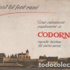 Catálogos publicitarios: CATALAGO DE CAVAS CODORNIU - CAVA - MENTRES RECORREU LES SEVES CAVES. Lote 100231371