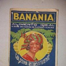 Catálogos publicitarios: BANANIA - CATALOGO DE PLATANOS - ALIMENTO IDEAL - 24 PAGINAS, 11 FOTOS - IMP· RIEUSSET. Lote 100334591