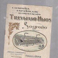 Catálogos publicitarios: LISTA DE PRECIOS. TREVIJANO HIJOS. LOGROÑO. COMPAÑIA ESPAÑOLA DE ALIMENTACION. VER. Lote 100504835