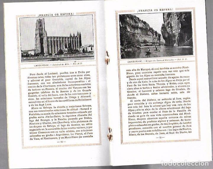 Catálogos publicitarios: FOLLETO PUBLICITARIO GEOGRAFICO. VIAJERO. FRANCIA OS ESPERA!. ILUSTRADO. IMPRESO EN PARIS. VER - Foto 2 - 172683865