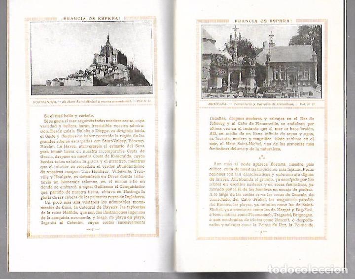 Catálogos publicitarios: FOLLETO PUBLICITARIO GEOGRAFICO. VIAJERO. FRANCIA OS ESPERA!. ILUSTRADO. IMPRESO EN PARIS. VER - Foto 3 - 172683865