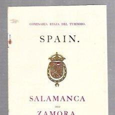Catálogos publicitarios: FOLLETO PUBLICITARIO GEOGRAFICO. VIAJERO. SALAMANCA AND ZAMORA. EN INGLES. WHITTINGHAM & CO. Lote 100508727