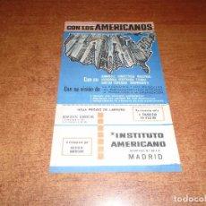 Catálogos publicitarios: PUBLICIDAD ORIGINAL DE 1963: INSTITUTO AMERICANO, CALLE RECOLETOS, MADRID. . Lote 100771483