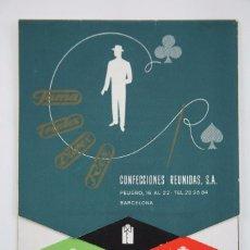 Catálogos publicitarios: CATÁLOGO PUBLICITARIO - CONFECCIONES REUNIDAS, SA. FAMA / TRIPLEX, DUREX, REX. PRIMAVERA-VERANO,1955. Lote 101047911