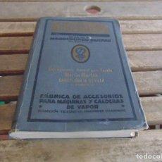 Catálogos publicitarios: LIBRO CATALOGO FABRICA DE ACCESORIOS PARA MAQUINASY CALDERAS DE VAPOR SCHAEFFER. Lote 101064927