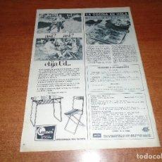 Catálogos publicitarios: PUBLICIDAD EN PRENSA 1966 MESAS Y SILLAS PLEGABLES CARMEN. VALENCIA.. Lote 101111255