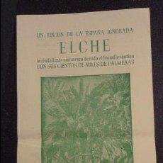 Catálogos publicitarios: ANTIGUO FOLLETO.HUERTO DEL CURA.ELCHE.. Lote 101652943