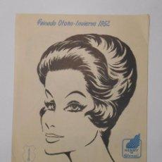 Werbekataloge - ANUNCIO PUBLICITARIO PEINADO OTOÑO INVIERNO 1962. HENRY COLOMER. LINEA CHOU. PELUQUERIA. TDKP2 - 101921635